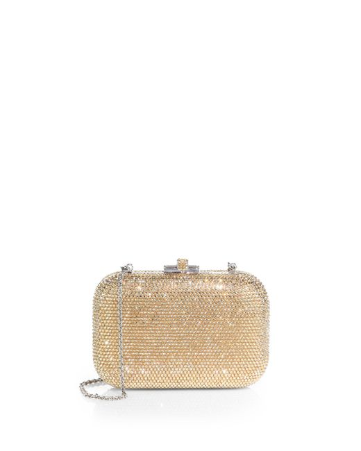 Judith Leiber Couture - Metallic Crystal-embellished Clutch - Lyst