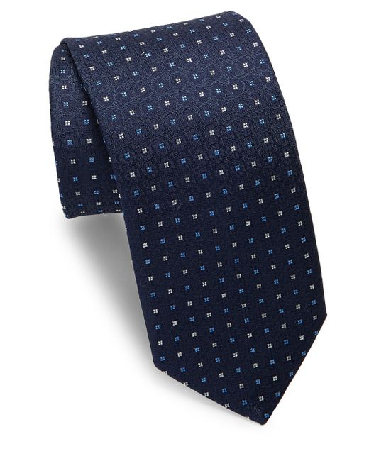 Eton of Sweden - Blue Medallion Silk Tie for Men - Lyst