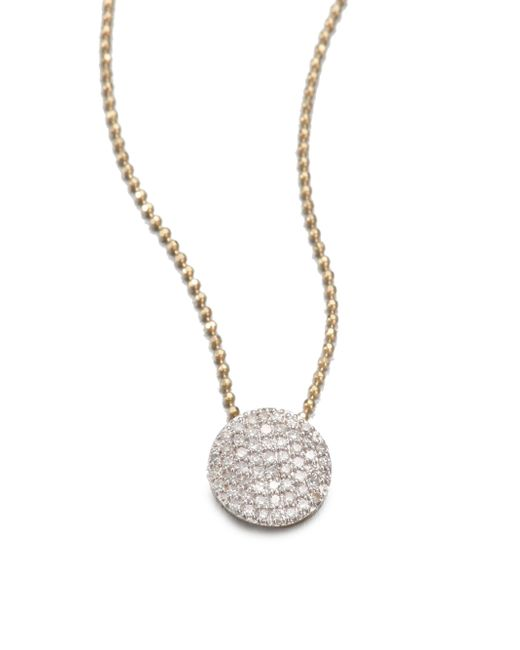Phillips House | Metallic 14k Yellow Gold & Diamond Infinity Necklace | Lyst