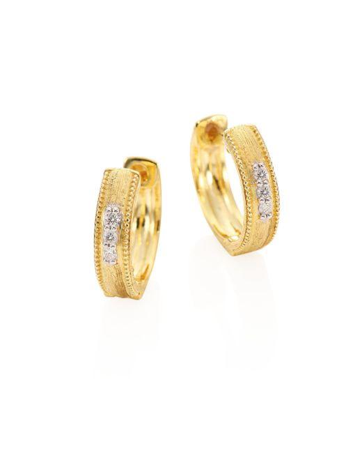 Jude Frances | Metallic Lisse Diamond & 18k Gold Hoops/0.25 | Lyst