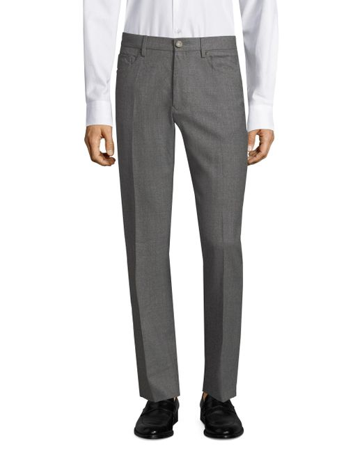 Incotex - Gray Moss Panama Wool Trousers for Men - Lyst