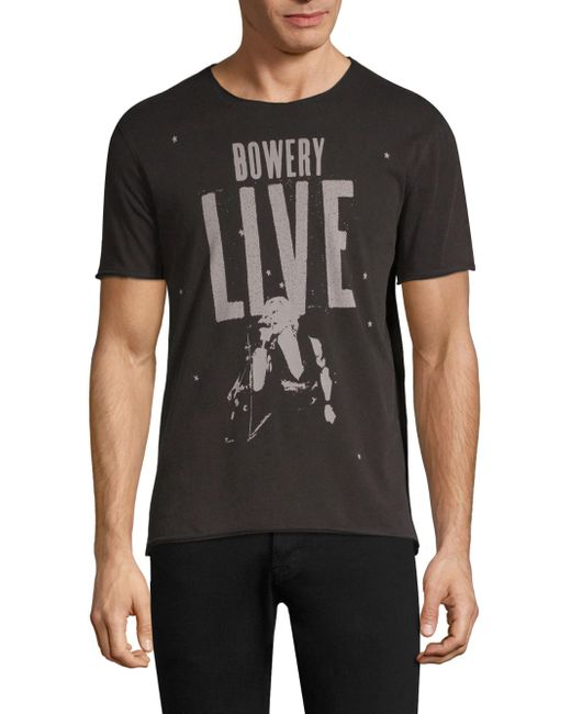 John Varvatos - Black Bowery Live Graphic Tee for Men - Lyst