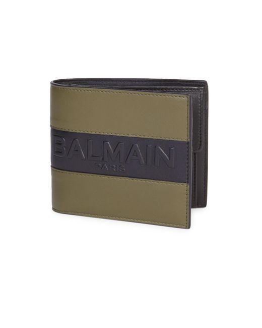 Balmain - Multicolor Logo Bifold Wallet for Men - Lyst