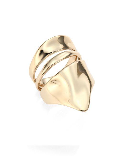 Alexis Bittar | Metallic Liquid Gold Armor Ring | Lyst