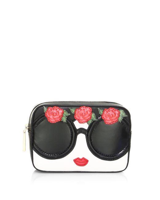 Alice + Olivia - Multicolor Ava Embellished Face & Flowers Travel Case - Lyst
