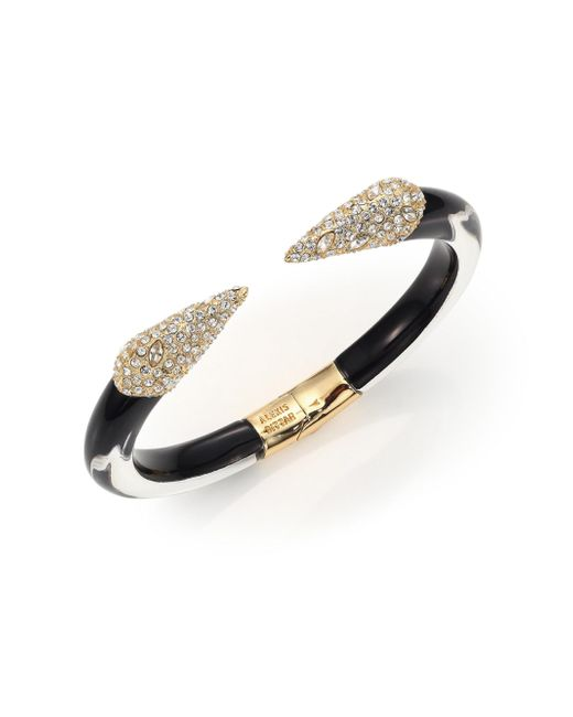 Alexis Bittar | Black Titan Lucite & Crystal Cuff Bracelet | Lyst