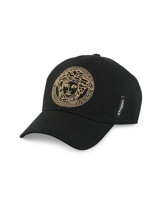 Versace Black Medusa Logo Baseball Cap for men