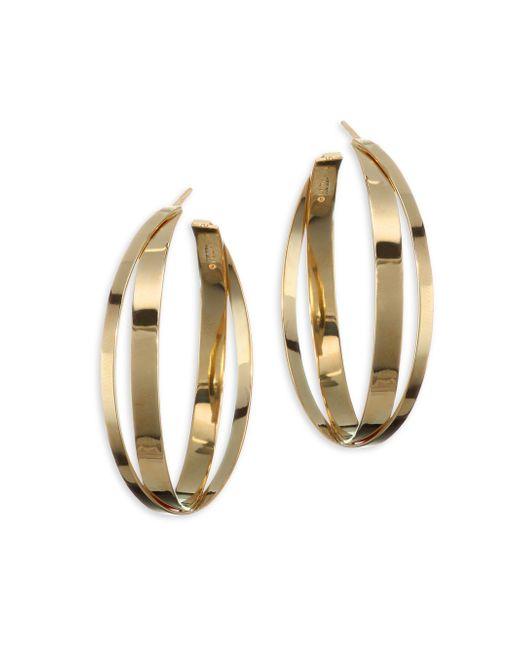 Lana Jewelry - Metallic 15-year Anniversary Small Double Crisscross Hoop Earrings/1.5 - Lyst