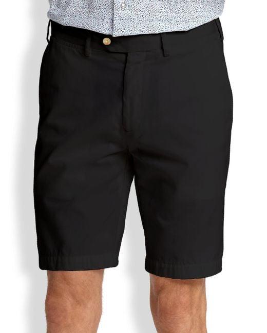 Saks Fifth Avenue | Black Cotton Oxford Shorts for Men | Lyst