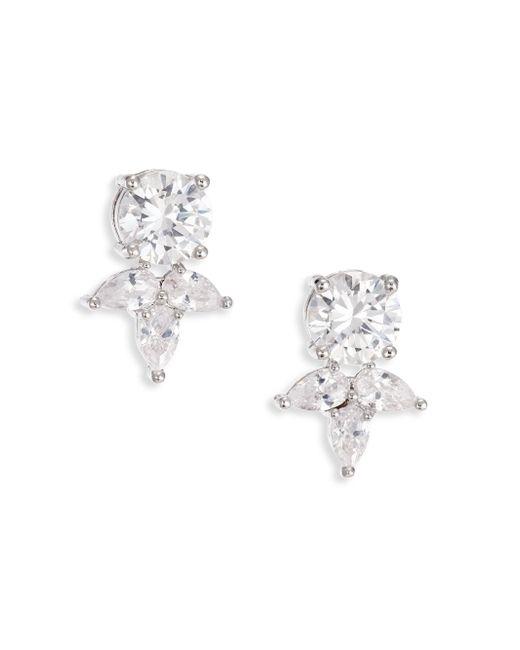 Fallon | Metallic Monarch Pointed Cluster Stud Earrings | Lyst
