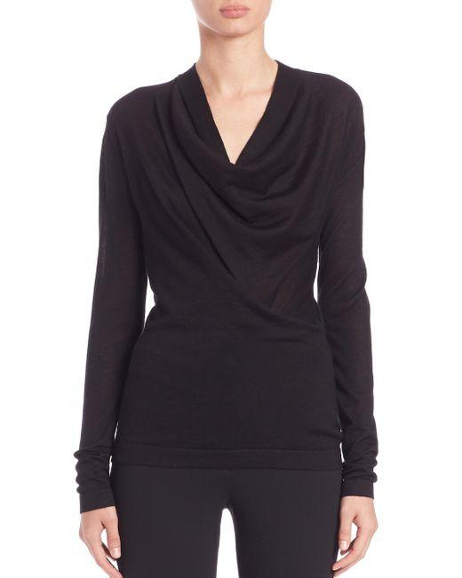 Derek Lam - Women's Draped Cowlneck Sweater - Black - Size M - Lyst