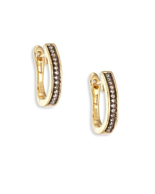 Annoushka   Metallic Eclipse Porcupine Diamond & 18k Yellow Gold Hoop Earrings/1   Lyst