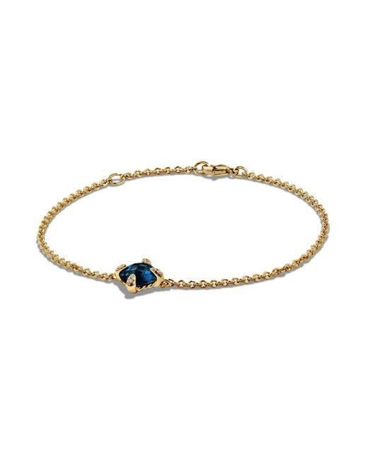 David Yurman - Metallic Châtelaine Bracelet With Hampton Blue Topaz And Diamonds In 18k Gold - Lyst