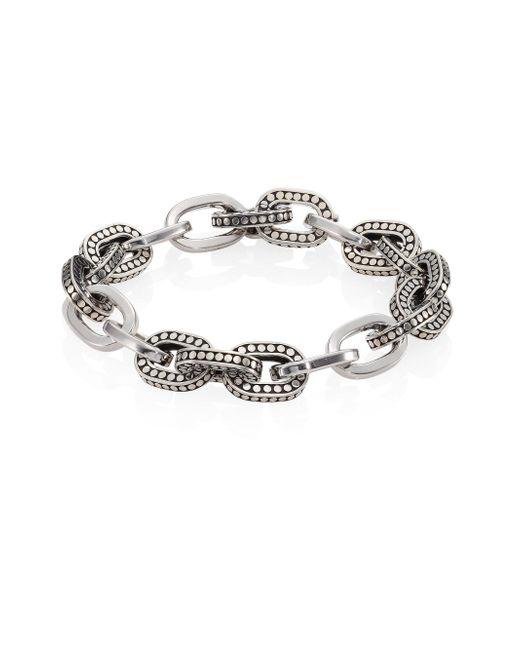 John Hardy | Metallic Dot Sterling Silver Small Link Bracelet | Lyst
