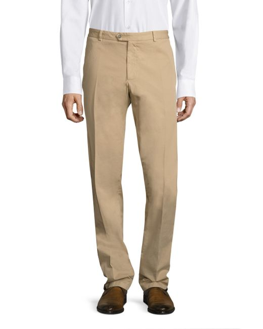 Saks Fifth Avenue - Natural Stretch Garment-dyed Regular-fit Chinos for Men - Lyst