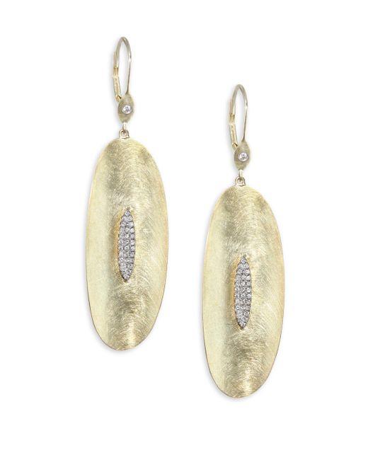 Meira T - Metallic Diamond & 14k Yellow Gold Drop Earrings - Lyst