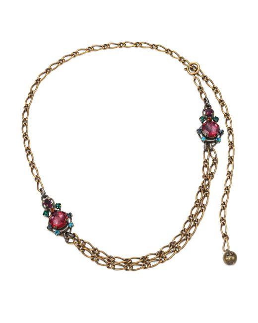 Lanvin | Metallic Crystal Chain Necklace | Lyst