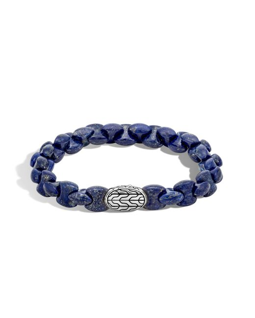 John Hardy - Blue Batu Classic Sterling Silver And Lapis Lazuli Bracelet for Men - Lyst