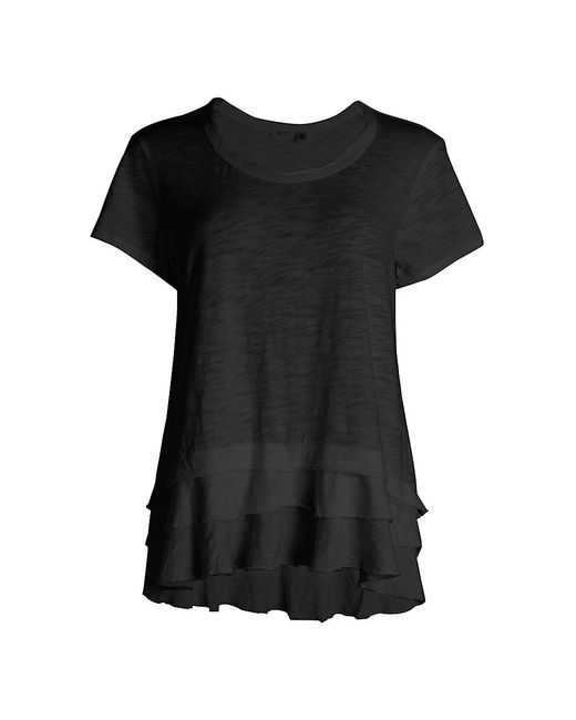 Wilt Black Tiered Ruffle T-shirt