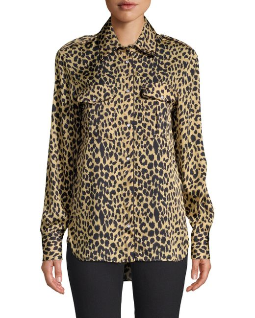 Piazza Sempione - Black Animal Print Blouse - Lyst