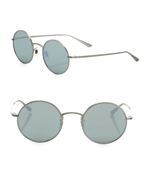 Oliver Peoples - Metallic The Row For After Midnight 49mm Mirrored Round Sunglasses - Lyst