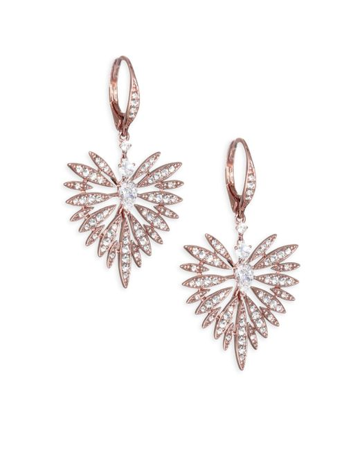 Adriana Orsini - Metallic Small Swarovski Crystal Burst Earrings - Lyst