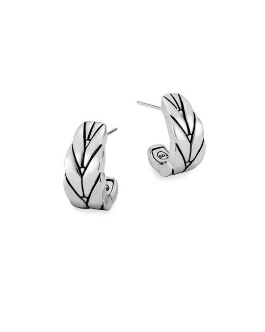 John Hardy - Metallic Modern Chain Silver Small J Hoop Earrings/0.75 - Lyst