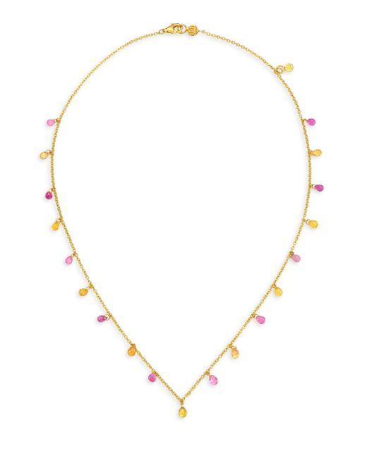 Gurhan - Metallic 22k Gold & Pink Sapphire Necklace - Lyst