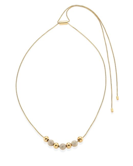 Michael Kors | Metallic Brilliance Pave Beaded Necklace/rose Goldtone | Lyst