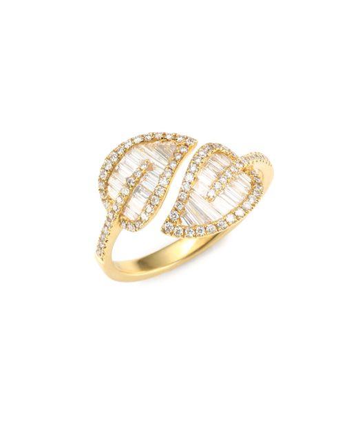 Anita Ko - Metallic Diamond Leaf Ring - Lyst