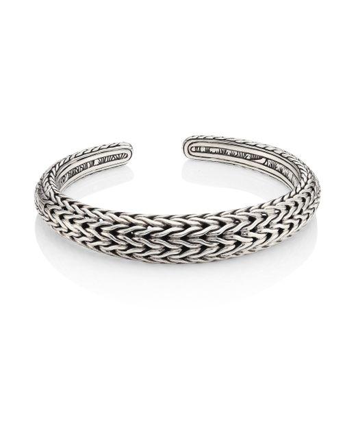 John Hardy - Metallic Classic Chain Sterling Silver Cuff Bracelet - Lyst