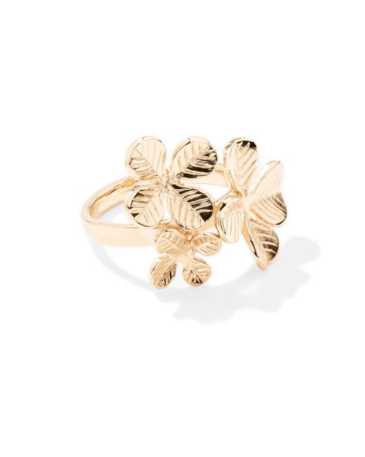 Aurelie Bidermann - Metallic Tamar Clover Ring - Lyst