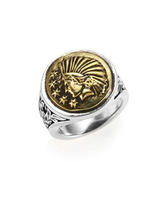 King Baby Studio - Metallic Liberty Headdress Signet Silver Ring - Lyst