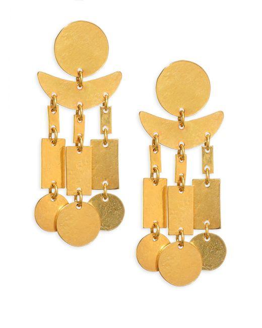 Nest - Metallic Hammered Dangle Earrings - Lyst