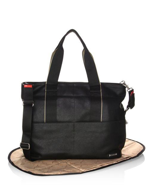 Storksak | Black Eden Faux Leather Diaper Bag | Lyst