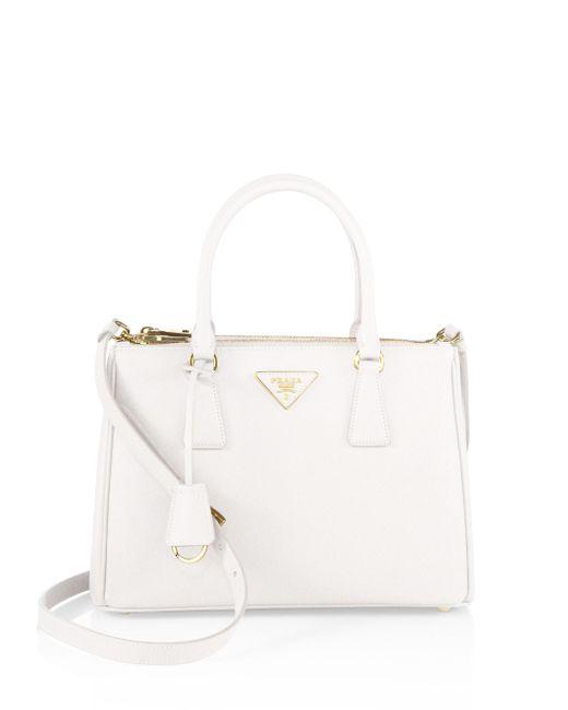 Prada - White Small Galleria Tote - Lyst