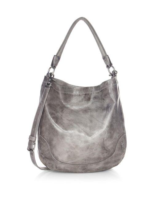 Frye - Gray Melissa Leather Hobo Bag - Lyst