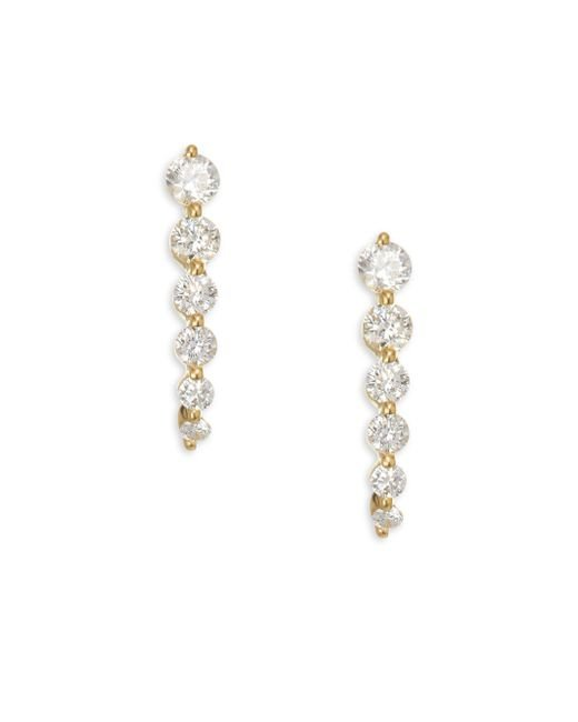 Anita Ko - Metallic 18k Gold & Diamond Graduated Cascade Earrings - Lyst