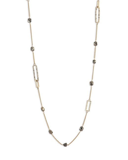 Alexis Bittar | Metallic Crystal-encrusted Mixed Stone Station Necklace | Lyst
