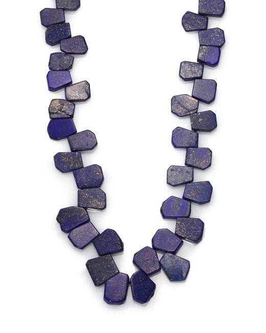 Nest - Blue Lapis Cluster Long Necklace - Lyst