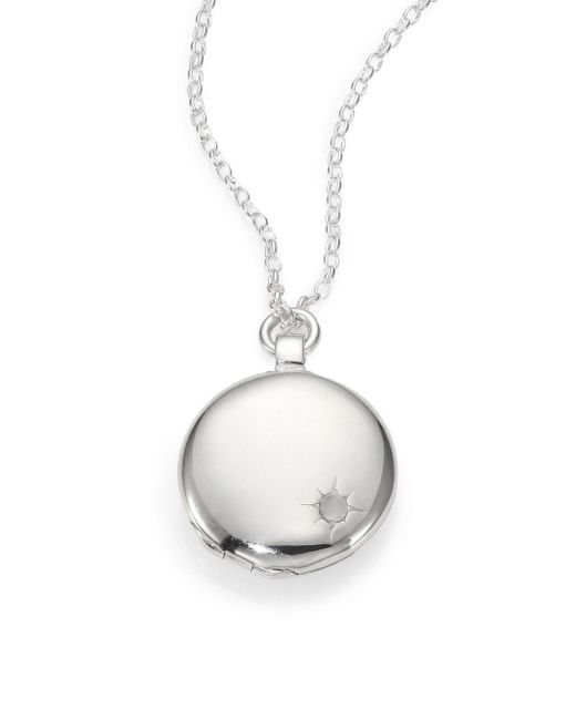 Astley Clarke - Metallic Sterling Silver Astley Locket Necklace - Lyst