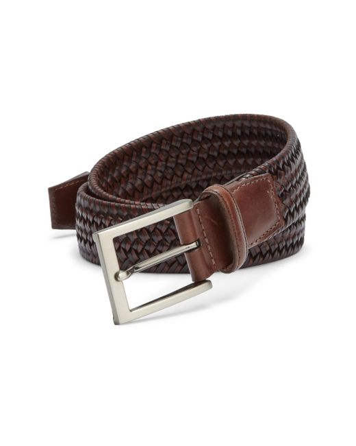 Saks Fifth Avenue | Brown Braided Leather Blend Belt for Men | Lyst