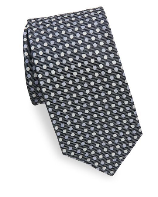 Isaia - Blue Three-tone Polka Dot Silk Tie for Men - Lyst
