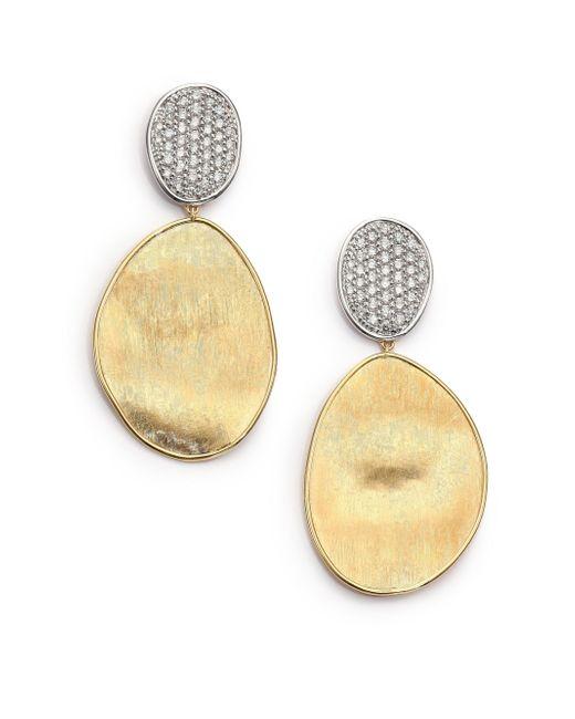 Marco Bicego - Metallic Women's Lunaria Diamond & 18k Yellow Gold Large Drop Earrings - Gold Diamond - Lyst