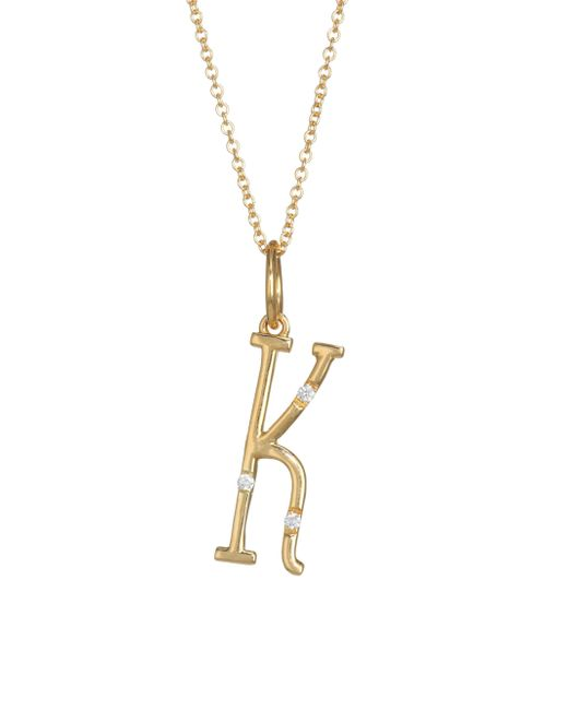 Devon Woodhill - Metallic Character Letters Diamond & Gold K Pendant Necklace - Lyst