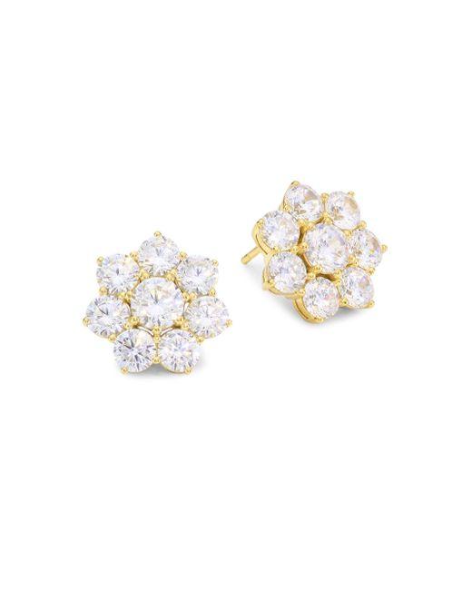 Adriana Orsini - Metallic 18k Goldplated Sterling Silver Floral Stud Earrings - Lyst