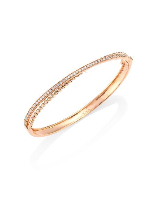 Hueb - Metallic Bubbles Diamond & 18k Rose Gold Bangle Bracelet - Lyst