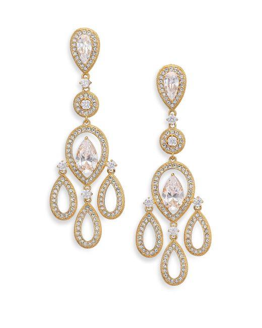 Adriana Orsini | Metallic Pave Pear Chandelier Earrings/goldtone | Lyst