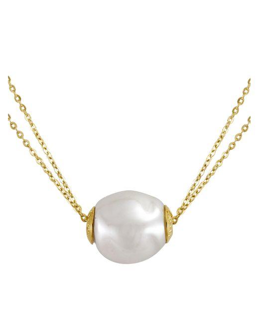 Majorica - Metallic 18k Gold Vermeil & Pearl Double Strand Necklace - Lyst
