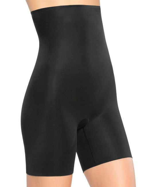 Spanx - Black Power Conceal-her High Waist Shorts - Lyst